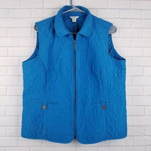 Christopher & Banks Full Zip Vest Size Large